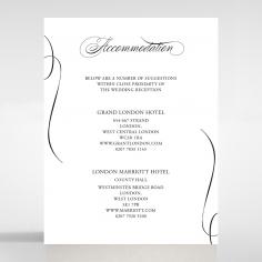Paper Polished Affair accommodation invitation card design