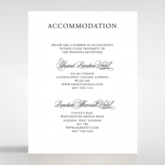 Paper Timeless Romance accommodation card design
