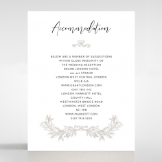 Paper Timeless Simplicity wedding stationery accommodation enclosure invite card