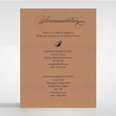 Precious Moments accommodation invite card
