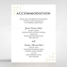 Quilted Letterpress Elegance wedding accommodation enclosure card