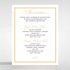 Royal Lace wedding accommodation invite card design