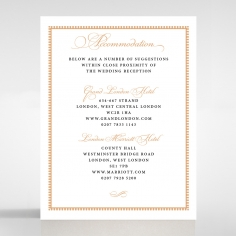 Royal Lace wedding accommodation enclosure card design