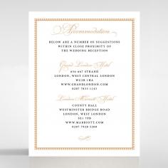 Royal Lace wedding accommodation enclosure card design