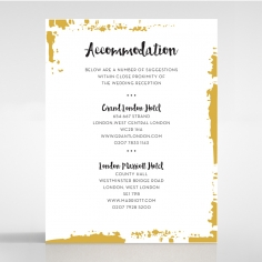 Rusted Charm accommodation wedding card design