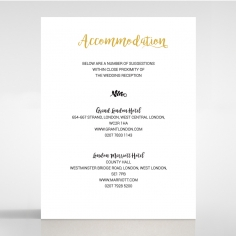 Rustic Lustre wedding stationery accommodation invitation card