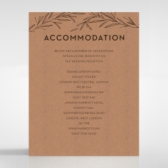 Rustic Oriental wedding accommodation invitation