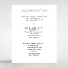 Silver Chic Charm Paper wedding stationery accommodation invite