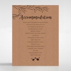 Springtime Love wedding accommodation invitation card design