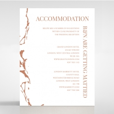 Stonework wedding stationery accommodation card