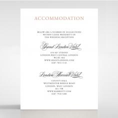 Timeless Romance wedding accommodation invite card