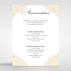 Vintage Prestige accommodation enclosure stationery invite card design