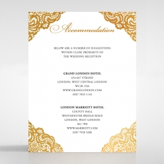 Vintage Prestige with Foil wedding accommodation card