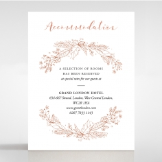 Whimsical Garland accommodation enclosure stationery card design