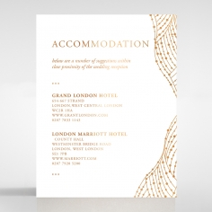 Woven Love Letterpress with foil wedding accommodation invite card