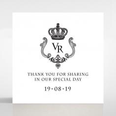 Black Victorian Gates wedding gift tag