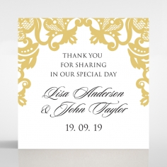 Divine Damask wedding gift tag design