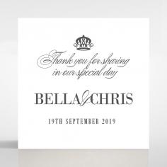 Golden Baroque Gates wedding stationery gift tag design
