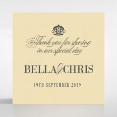 Golden Baroque Gates wedding stationery gift tag