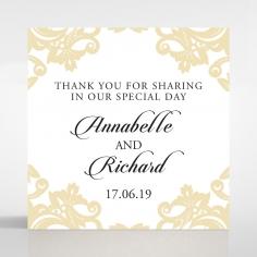 Golden Baroque Pocket wedding gift tag