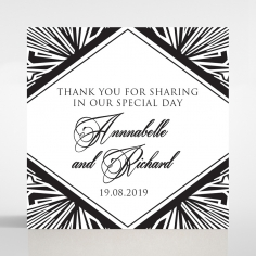 Paper Ace of Spades wedding gift tag stationery