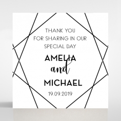 Paper Art Deco wedding gift tag stationery design