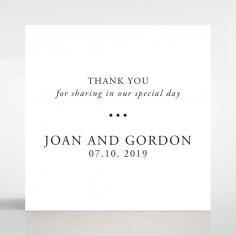 Paper Diamond Drapery wedding gift tag