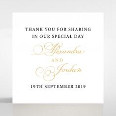 Royal Lace wedding stationery gift tag
