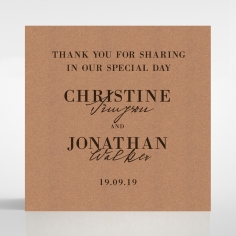 Rustic Love Notes wedding gift tag stationery item
