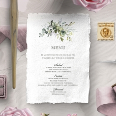 Beautiful Devotion wedding menu card