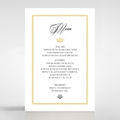 Black Doily Elegance table menu card stationery design
