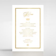 Black Doily Elegance with Foil table menu card stationery