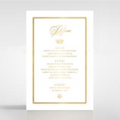 Black Doily Elegance with Foil table menu card stationery