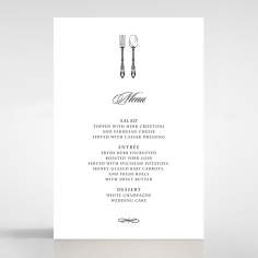 Black Victorian Gates wedding venue menu card design