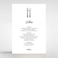Black Victorian Gates wedding venue menu card design