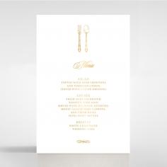 Black Victorian Gates with Foil wedding venue menu card stationery