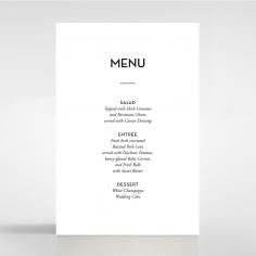 Clear Chic Charm Paper wedding venue menu card