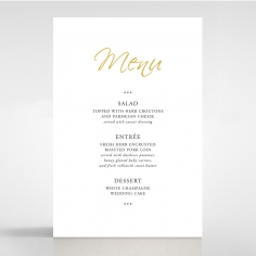 Diamond Drapery table menu card stationery