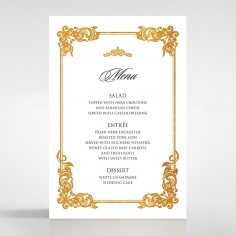 Divine Damask with Foil wedding reception menu card stationery item