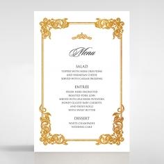 Divine Damask with Foil wedding reception menu card stationery item