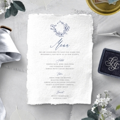 Enchanted garden reception table menu card stationery