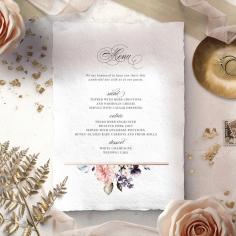 Enchanting Florals menu card