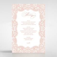 Floral Lace with Foil wedding reception menu card stationery design