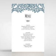 Forest Love wedding venue table menu card stationery