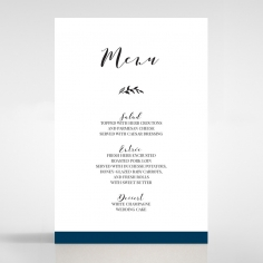 Forever Love Booklet - Navy wedding venue table menu card stationery item