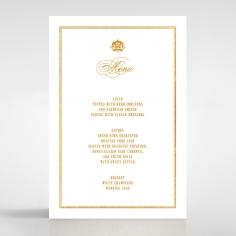 Gold Foil Baroque Gates wedding venue menu card stationery item