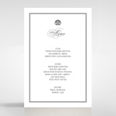Golden Baroque Gates wedding venue menu card stationery item