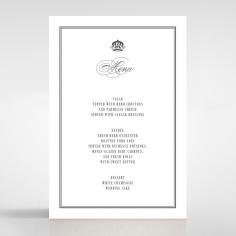 Golden Baroque Gates wedding venue menu card stationery item