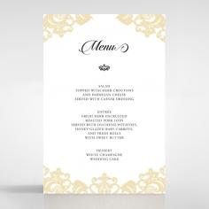 Golden Baroque Pocket wedding reception menu card design