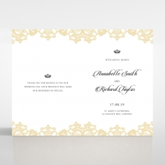 Golden Baroque Pocket with Foil wedding reception menu card stationery